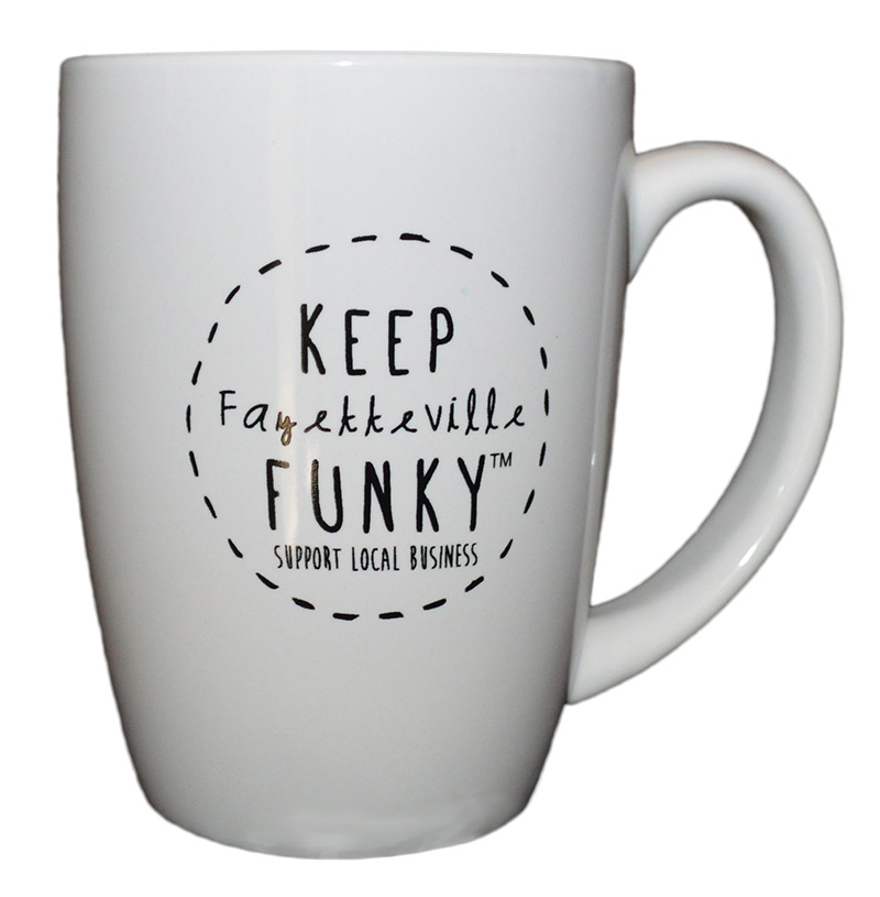 Keep fayetteville funky coffee mug penguin eds - Funky espresso cups ...