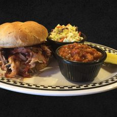 BBQ PULLED PORK ON A BUN