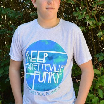 Keep Fayetteville Funky T-Shirt – LIGHT GRAY