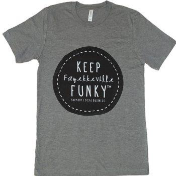 Keep Fayetteville Funky T-Shirt – DARK GRAY
