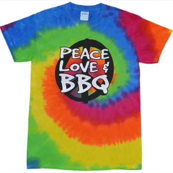 Peace Love & BBQ T-Shirt – TIE DYE